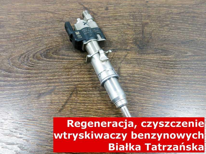Wtryskiwacz bezpośredni jednopunktowy z Białki Tatrzańskiej po regeneracji, zrewitalizowany na odpowiednim sprzęcie