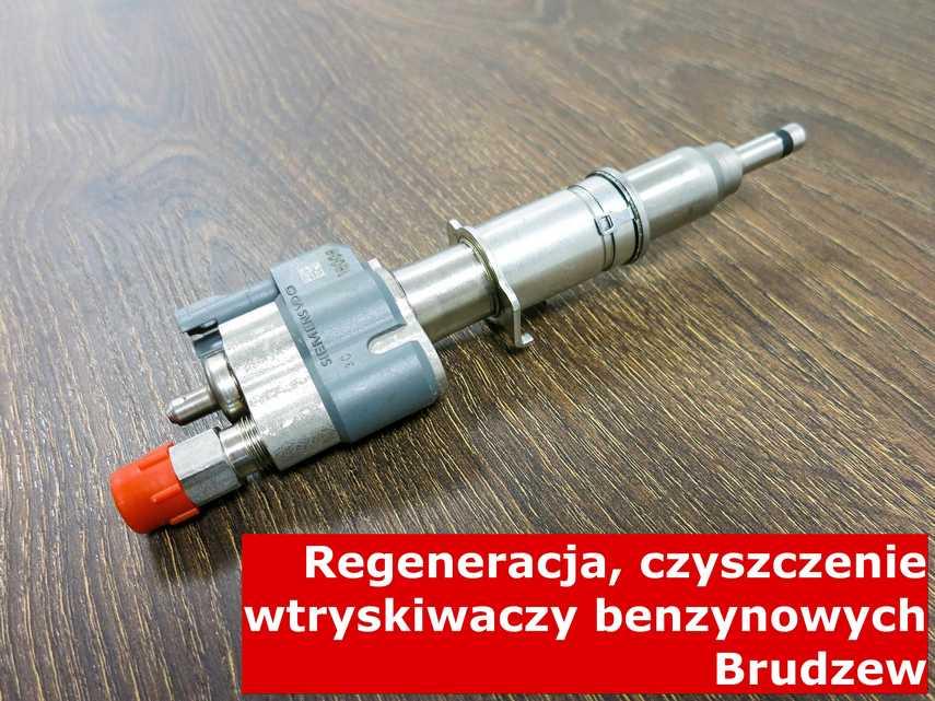 Wtryskiwaczy benzynowy z Brudzewa na stole w laboratorium, po przywróceniu sprawności na specjalnym sprzęcie