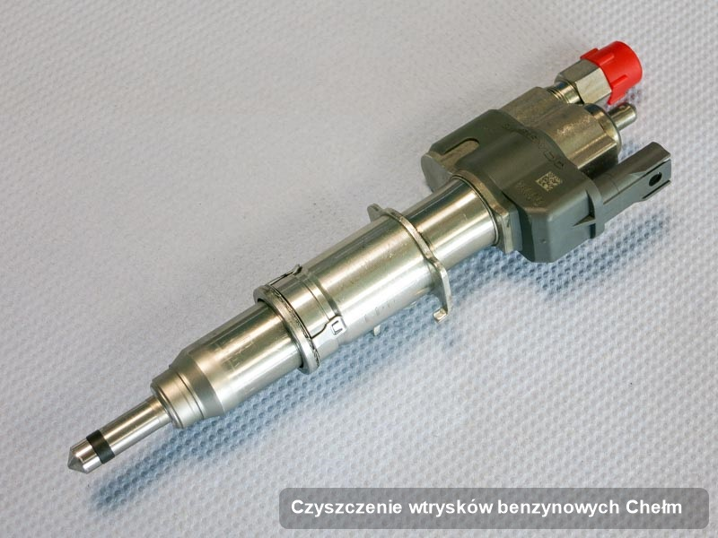 Wtrysk do benzyny zregenerowany poprzez czyszczenie na odpowiedniej aparaturze pomiarowej po zrealizowaniu usługi czyszczenie wtrysków benzynowych w dostępnej pracowni w Chełmie
