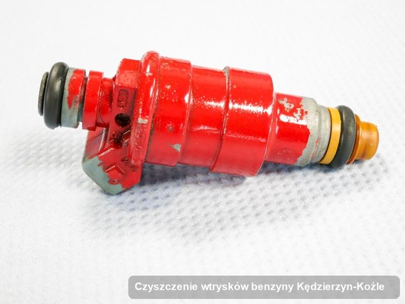 Wtryskiwacz do benzyny zdiagnozowany na specjalistycznej stacji probierczej po przeprowadzeniu serwisu czyszczenie wtrysków benzyny w jednej z pracowni w Kędzierzynie-Koźlu