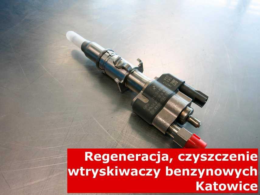 Wtryskiwacz piezoelektryczny benzynowy z Katowic w pracowni, po przywróceniu sprawności przy pomocy specjalnej maszyny
