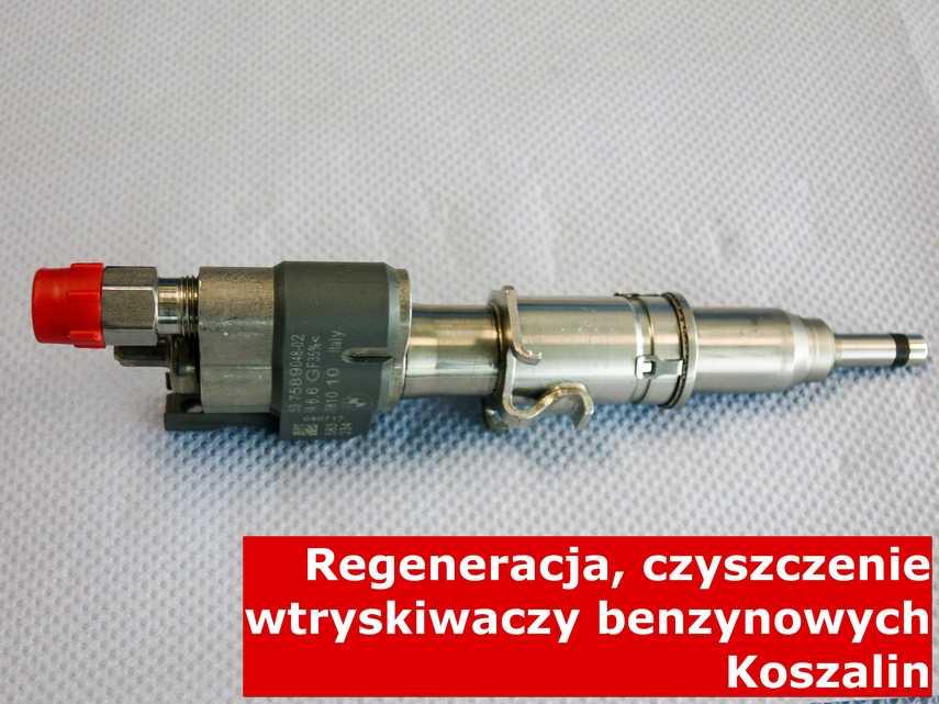 Wtryskiwacz do paliwa benzynowego z Koszalina w zakładzie regeneracji, naprawiony na specjalnym sprzęcie