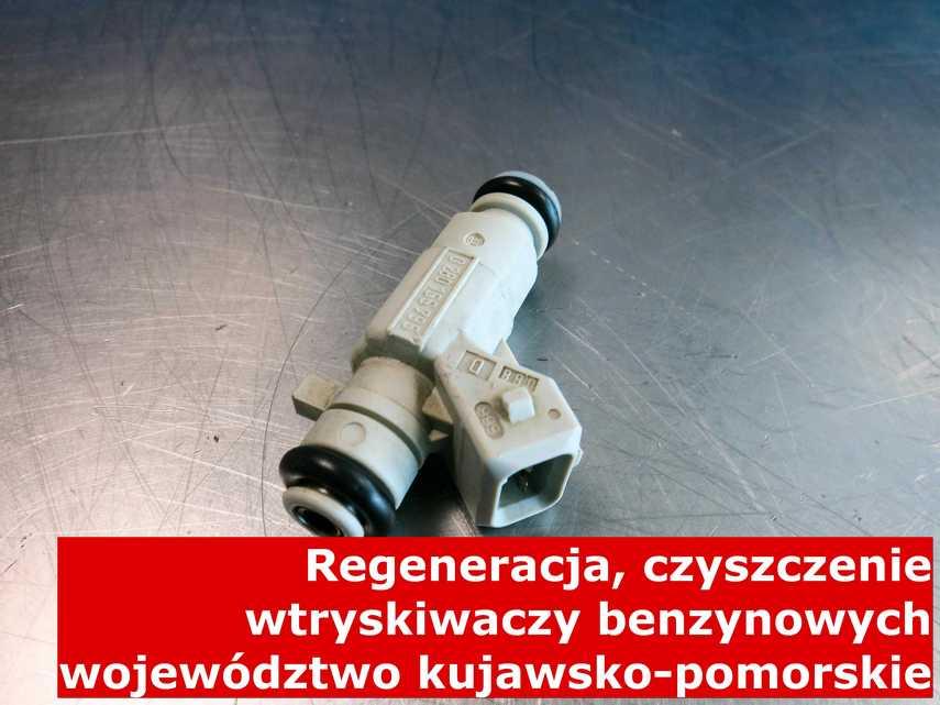 Wtrysk pośredni jednopunktowy z województwa kujawsko-pomorskiego w zakładzie regeneracji, naprawiony na specjalnym sprzęcie
