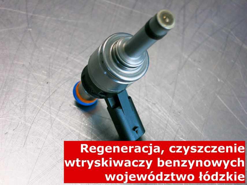 Wtrysk piezoelektryczny z województwa łódzkiego po naprawie, testowany przy pomocy specjalnego sprzętu