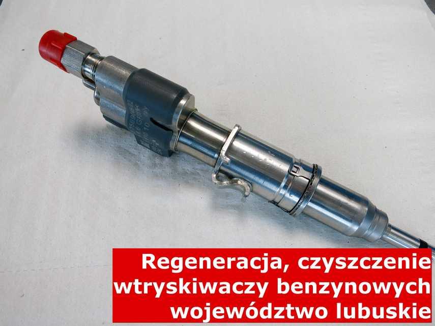 Wtryskiwacz wtrysku pośredniego w województwie lubuskim w pracowni regeneracji, testowany na odpowiedniej maszynie