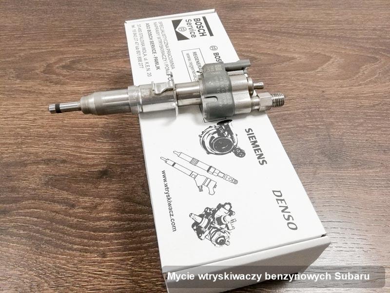 Wtrysk do osobówki firmy Subaru po wykonaniu usługi mycie wtryskiwaczy benzynowych zregenerowany na specjalistycznym urządzeniu gotowy do wysyłki