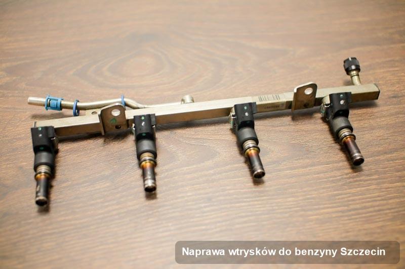 Wtryskiwacz zregenerowany poprzez czyszczenie na profesjonalnej maszynie po wykonaniu usługi naprawa wtrysków do benzyny w jednej z pracowni w Szczecinie