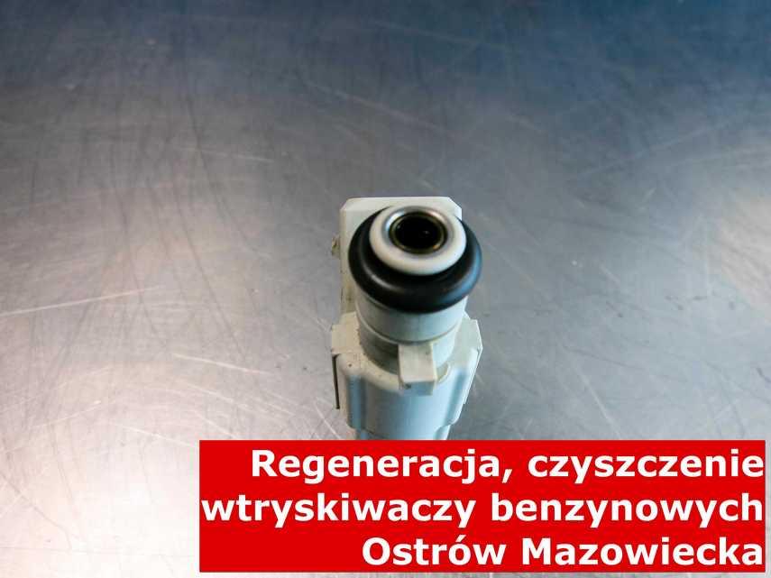 Wtryskiwacz w Ostrowi Mazowieckiej w pracowni regeneracji, testowany na odpowiednim sprzęcie