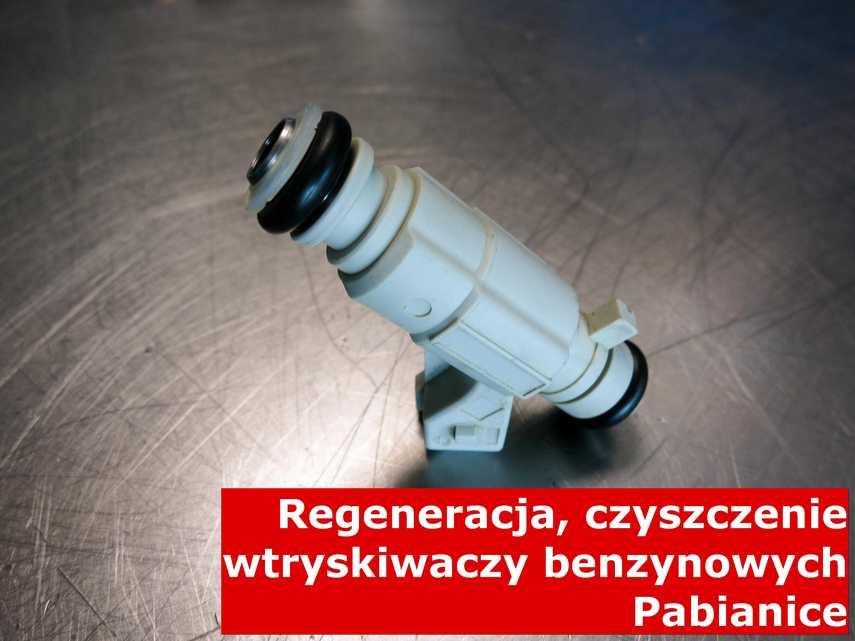 Wtryskiwaczy benzynowy z Pabianic w pracowni regeneracji, wyczyszczony przy pomocy nowoczesnego sprzętu