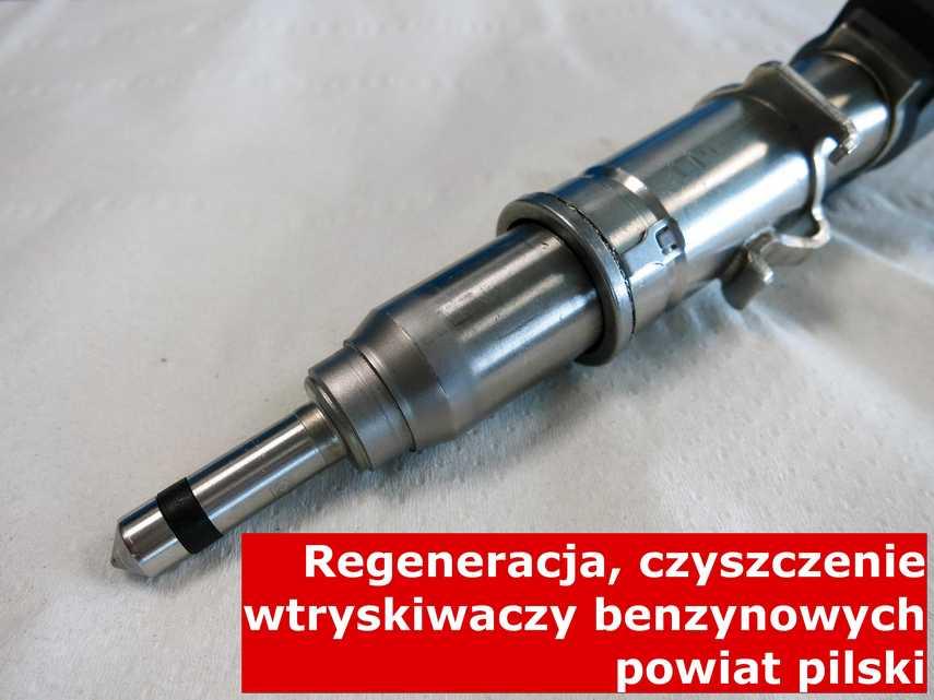 Wtryskiwaczy benzynowy po regeneracji, testowany na specjalnej maszynie • powiat pilski