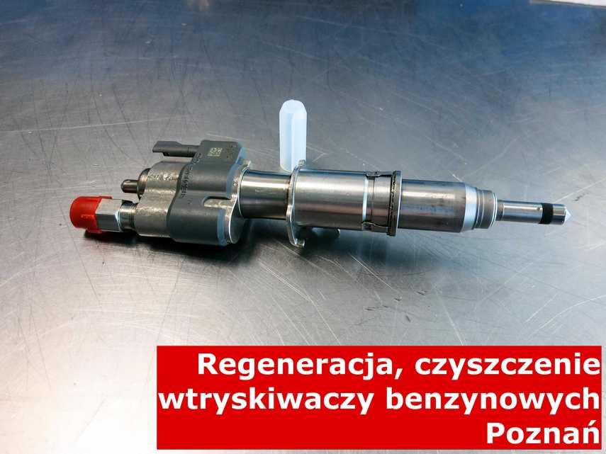 Wtryskiwacz piezoelektryczny z Poznania w pracowni regeneracji, wyczyszczony przy pomocy odpowiedniej maszyny