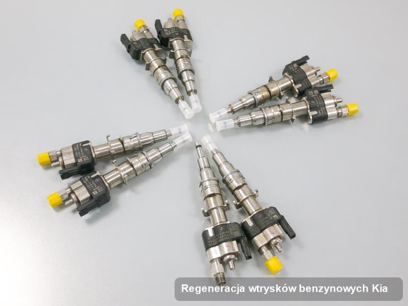 Wtrysk do benzyny do auta spod skrzydeł firmy Kia po przeprowadzeniu zlecenia regeneracja wtrysków benzynowych zregenerowany na odpowiedniej maszynie przed odesłaniem do klienta