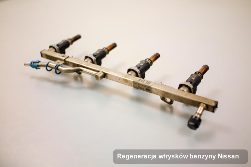 Wtrysk do benzyny do silnika z auta firmy Nissan po zrealizowaniu serwisu regeneracja wtrysków benzyny wyregulowany na odpowiednim urządzeniu przygotowany do wysyłki