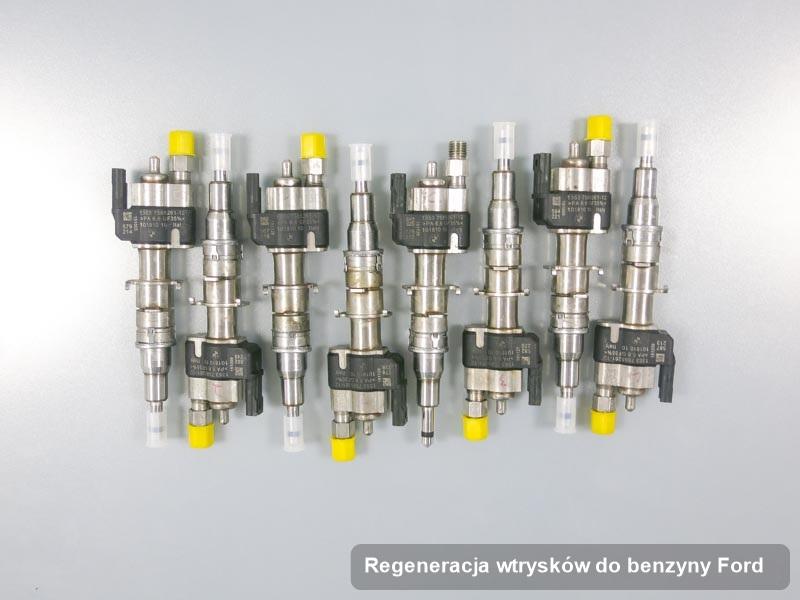 Wtryskiwacz do benzyny do samochodu firmy Ford po przeprowadzeniu usługi regeneracja wtrysków do benzyny naprawiony na specjalistycznej maszynie przed spakowaniem