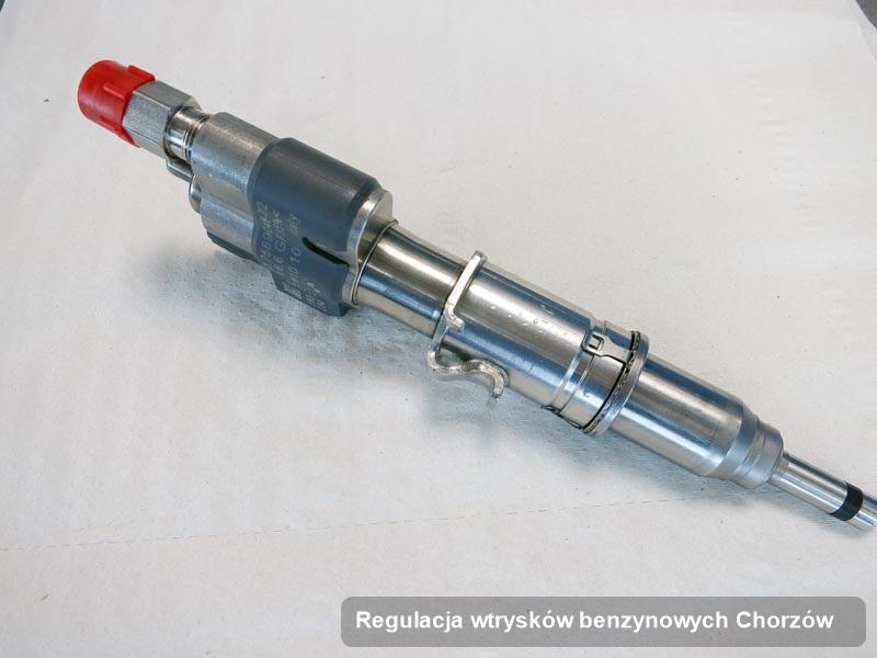 Wtrysk wyczyszczony na dedykowanej stacji diagnostycznej po wdrożeniu zlecenia regulacja wtrysków benzynowych w jednym z warsztatów w mieście Chorzów