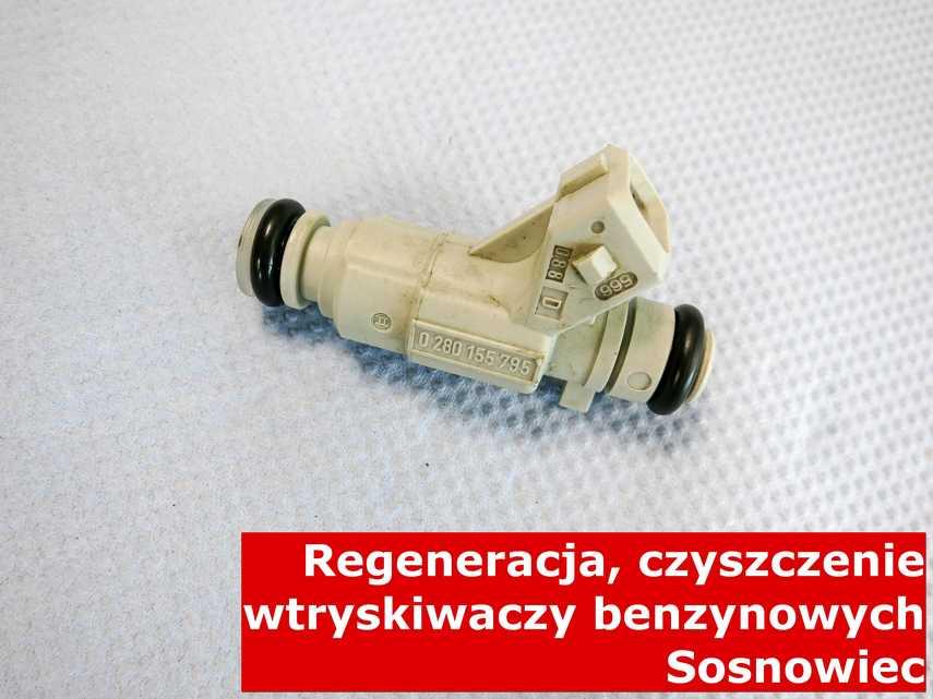 Wtryskiwacz piezoelektryczny benzynowy z Sosnowca po naprawie, testowany na specjalnej maszynie