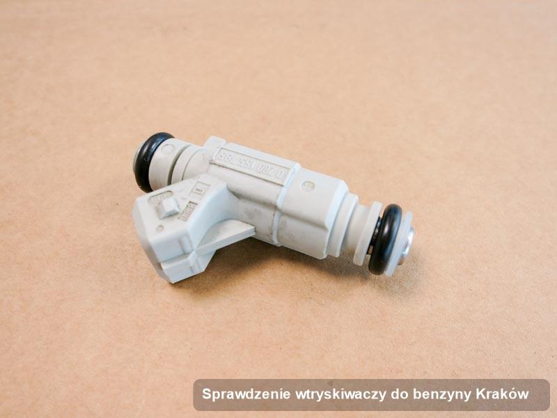 Wtryskiwacz do benzyny zdiagnozowany na specjalnej stacji probierczej po zrealizowaniu usługi sprawdzenie wtryskiwaczy do benzyny w jednej z pracowni w Krakowie