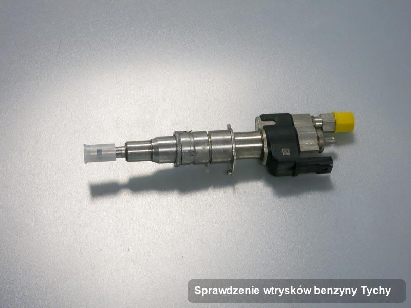 Wtrysk do benzyny zdiagnozowany na profesjonalnej aparaturze pomiarowej po przeprowadzeniu usługi sprawdzenie wtrysków benzyny w jednej z pracowni w mieście Tychy