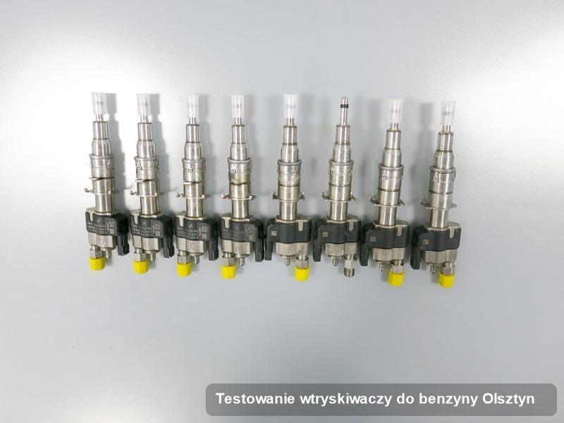 Wtrysk do benzyny wyczyszczony na specjalnej stacji probierczej po wdrożeniu zlecenia testowanie wtryskiwaczy do benzyny w dostępnym warsztacie w Olsztynie
