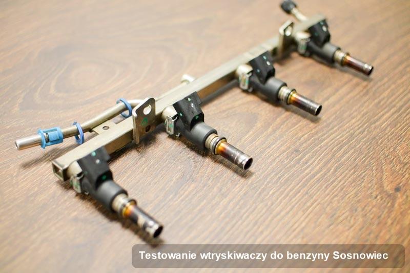 Wtrysk wyremontowany na profesjonalnej maszynie po zrealizowaniu serwisu testowanie wtryskiwaczy do benzyny w jednej z pracowni w Sosnowcu