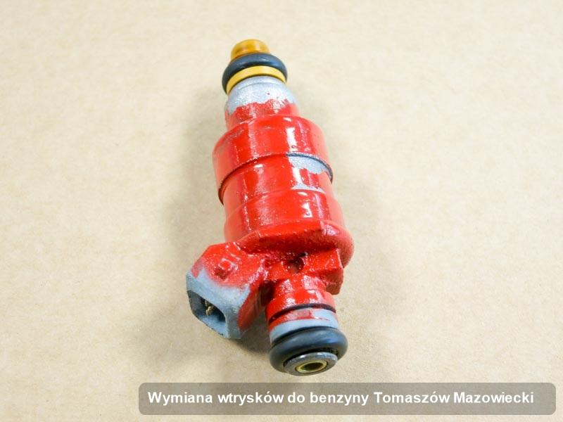 Wtryskiwacz do benzyny wyczyszczony na dedykowanej aparaturze pomiarowej po zrealizowaniu serwisu wymiana wtrysków do benzyny w jednej z pracowni w Tomaszowie Mazowieckim