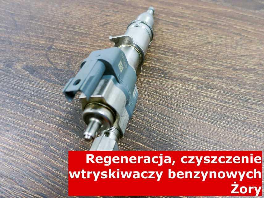 Wtrysk wtrysku pośredniego z Żor w pracowni, wyczyszczony przy pomocy odpowiedniego sprzętu